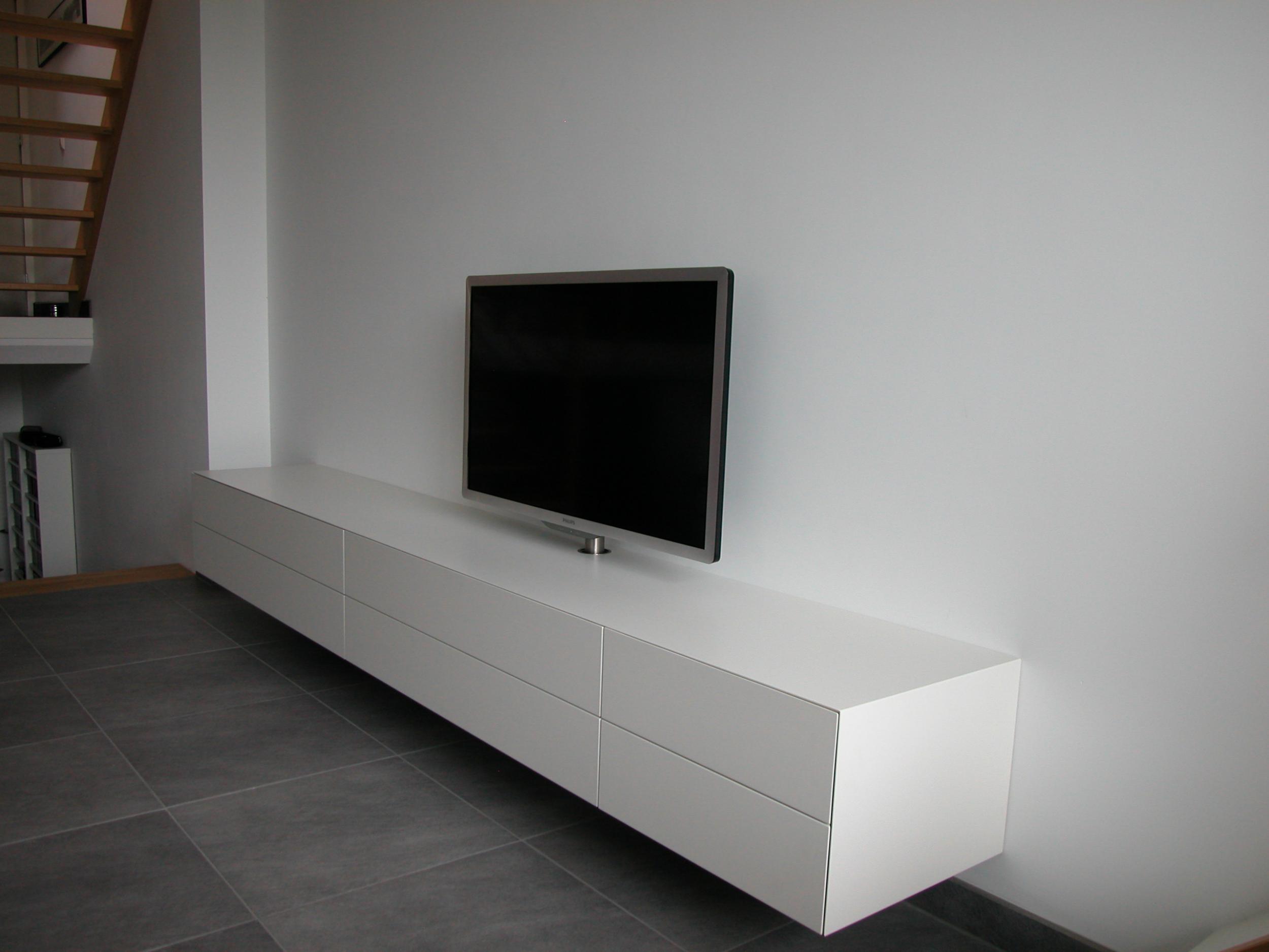 Tv Kast Wit Mat.Artyx The New Design Vision Alpha 320 Supermat Wit Gespoten Tv